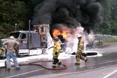 Commercial Vehicle Fire SR422 2012