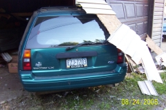 Vehicle into Garage 2005